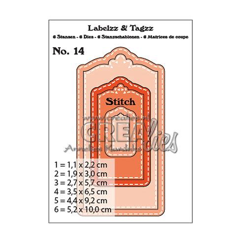 Crealies • Labelzz & Tagzz Stanzschablone no.14 Labels und Tags