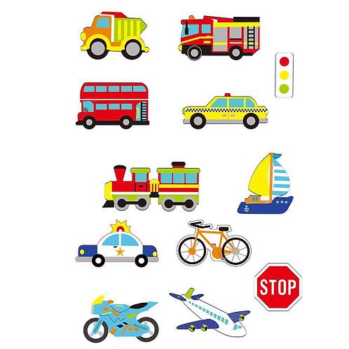Moosgummi Sticker Autos, 39St selbstklebend