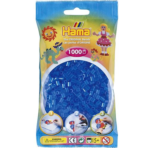 Midi Perlen 5mm in Beutel, 1000 Perlen transparent-blau