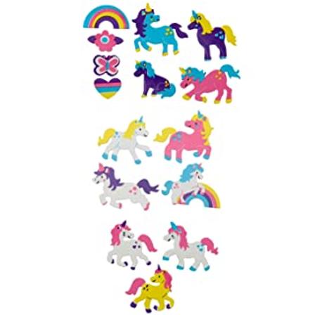 Moosgummi Sticker Einhorn, 28St selbstklebend