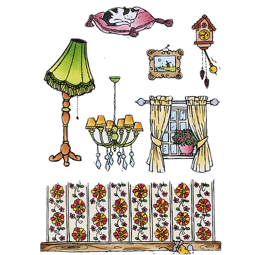 Marianne Design  Silikonstempel Don & Daisy zu Hause