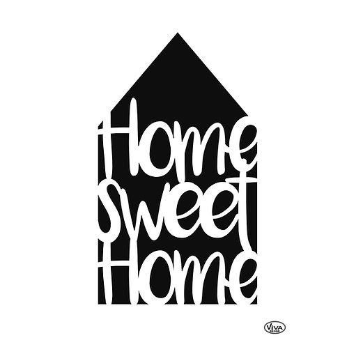 Universal Schablone A4 Home sweet Home