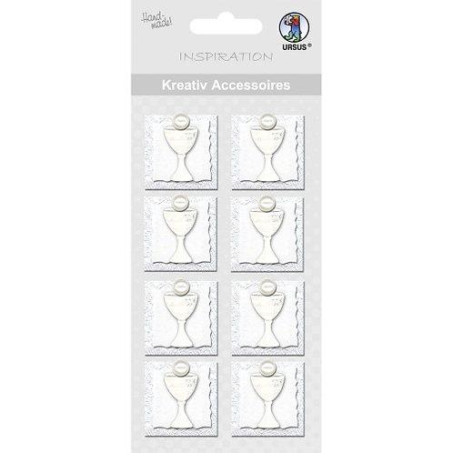 "Kreativ Accessoires ""Kelch"" silber - Motiv 143"