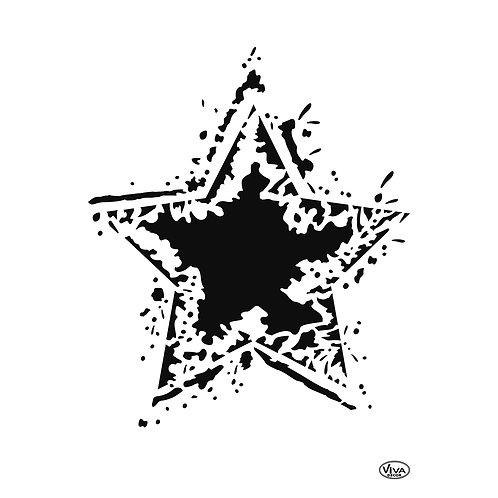 Universal Schablone A4 Rocking Star