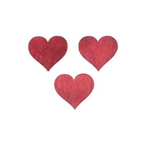 Holz Streuteile Herzen