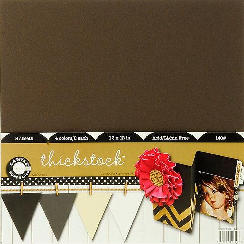 Canvas Corp Paper pack 30,5x30,5cm, Neutral thickstock, 8Blatt