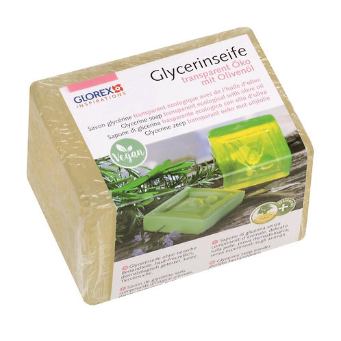 Glycerinseife Öko mit Olivenöl, transparent