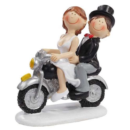 Hochzeitspaar auf Motorrad 8.5cm