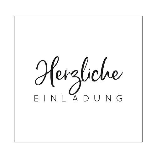 """Mundart Stempel Prägeschablone """"Herzliche EINLADUNG"""""""