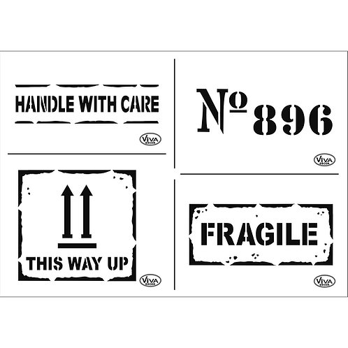 Universal Schablone A4 Fragile