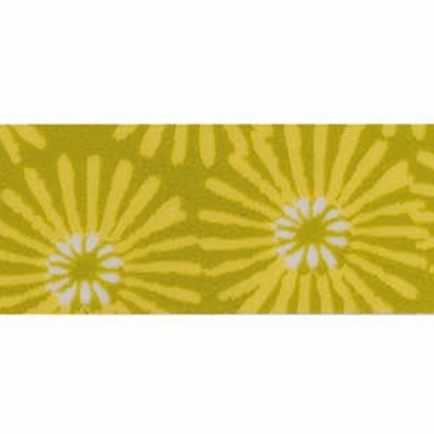 Washi Tape Blumen gelb-grün, 15mm x 10m
