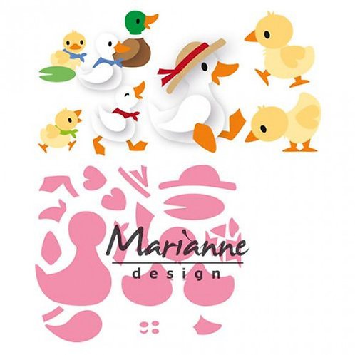 Marianne Design Collectables  Stanzschablone Eline's Entenfamilie