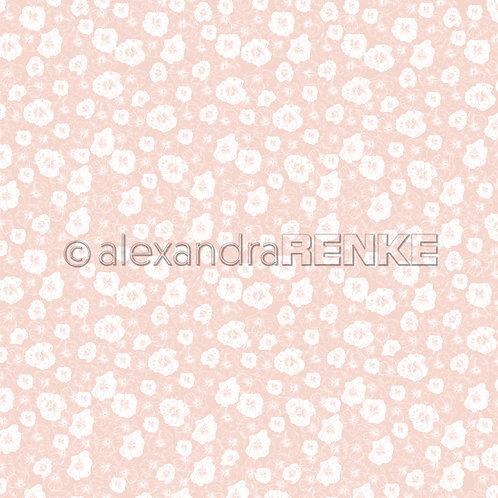 """Designpapier """"Frühling Blumenhintergrund rosa"""""""
