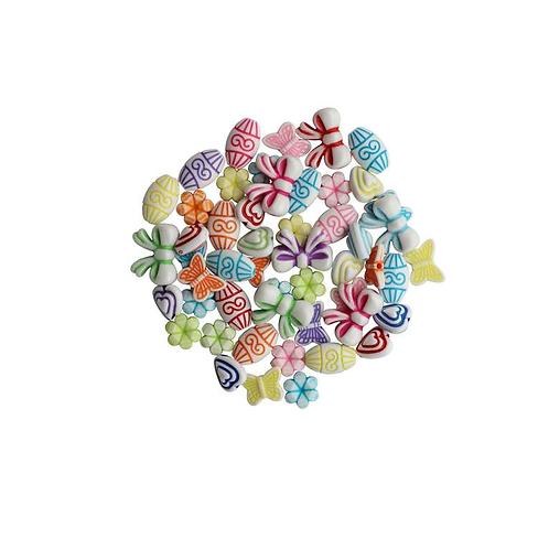 Schmuck Perlen 11-16mm 25g opak mix
