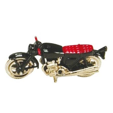 Motorrad schwarz, 6cm