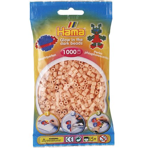 Midi Perlen 5mm in Beutel, 1000 Perlen nachtleuchtend-rot