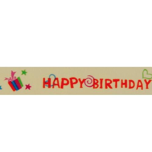 """Washi Tape """"Happy Birthday"""" Klebeband aus Reispapier, 15mm x 10m"""