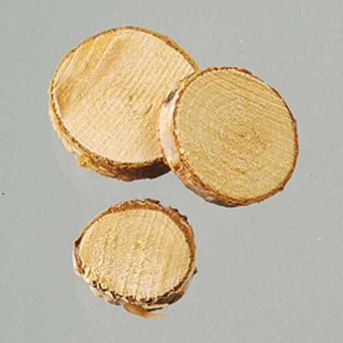 Holzscheiben, D= 1-3 cm, 200 g, natur
