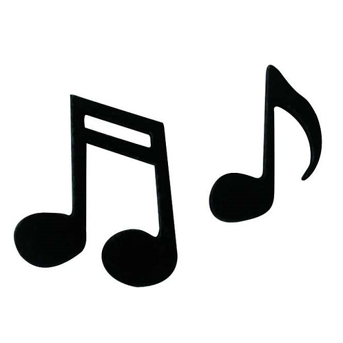 Musiknoten Holz m.Klebepunkt 21mm, 12Stk