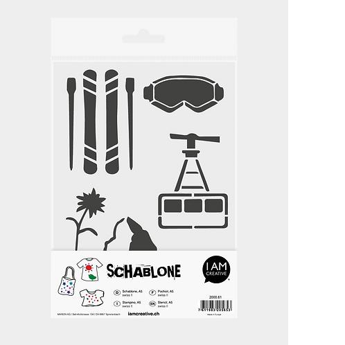 Schablone DIN A5, Swiss II