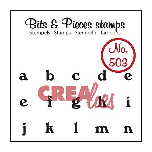 Crealies Bits & Pieces Stempel No. 503    a - n