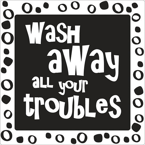 Label wash away all your ... 50x50mm, SB-Btl. 1Stk.