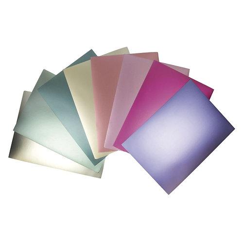 Effektpapier Metallic Mix, A4 250g/m2, 8 Farben, 8Blatt, bunt