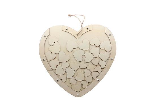 Herz mit Hänger, mit 30 kleinen Herzen, 30x27.5cm