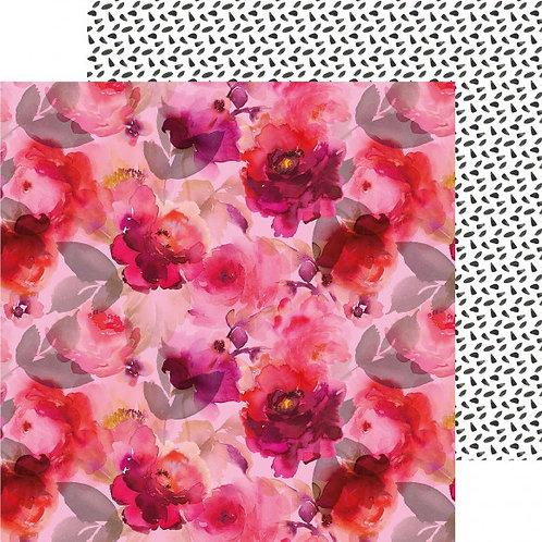 Kaisercraft paper 30,5x30,5cm Magenta pomegranate