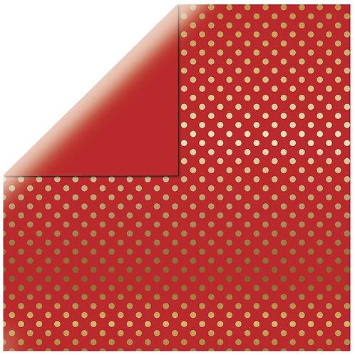 Scrapbooking Papier Gold Foil Dots 30.x30.5cm, 180g/m2