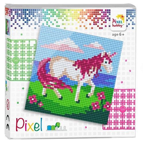 Pixel Set Quadrat Einhorn - Bild aus 4 quadratischen Grundplatten