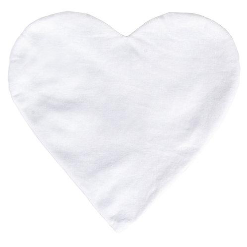 Kissenbezug Herz, 30cm ø 190g/m², zum Zunähen, SB-Btl 1Stück, naturweiss