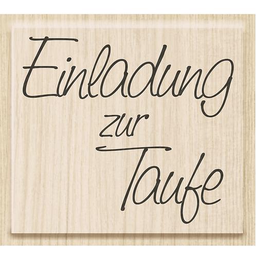 """Holz Stempel Geburt """"Einladung zur Taufe"""""""