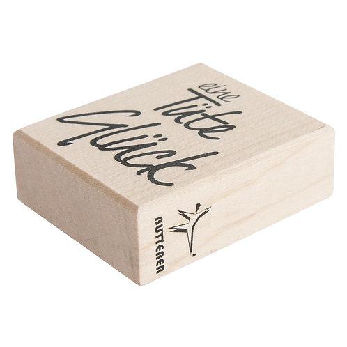 Holz Stempel Eine Tüte Glück, 5x6cm