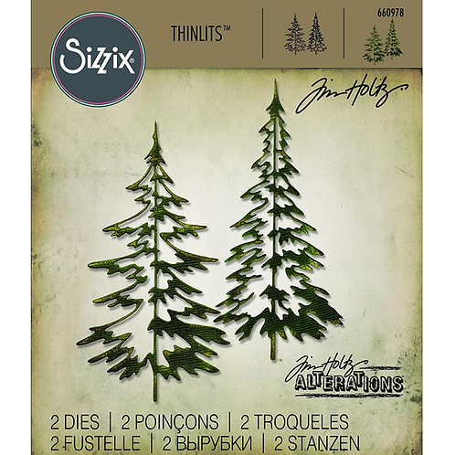 Sizzix Thinlits Festliche Bäume