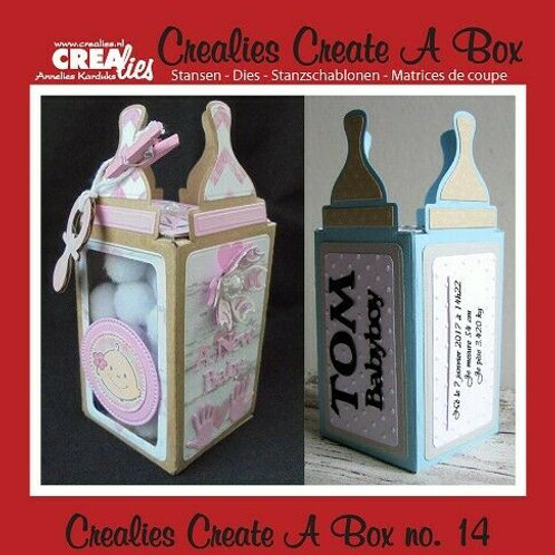 Crealies Stanzschablone No.14 Box Babyflasche