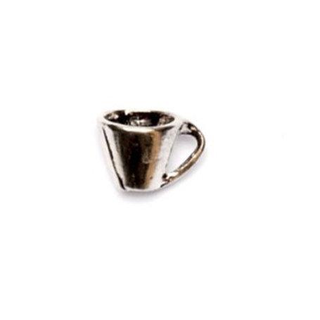 Metallanhänger Teetasse 9x7mm altsilber
