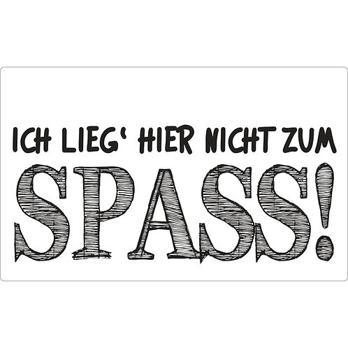 Label ... nicht zum Spass!, 40x65mm, SB-Btl 1Stück