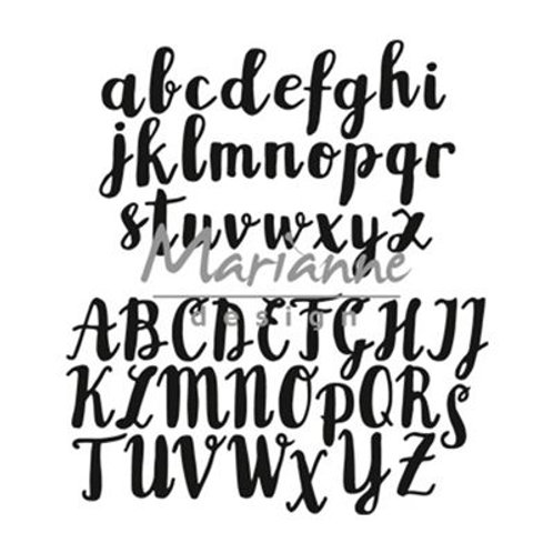Marianne Design  Craftables  Stanzschablone Pinsel Alphabet