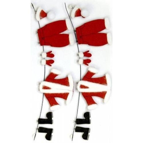 Artwork Sticker Weihnachtsmann Kleidung 155x65x5mm