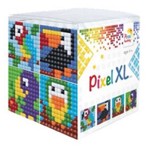 Pixel XL Würfel Vögel - vier Sujets