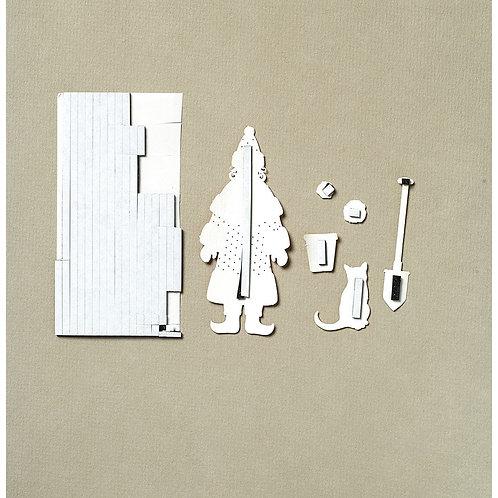 3D-Klebekissen, Streifenh 3x100 mm,  2 mm stark, SB-Karte: Platte 10x10 cm