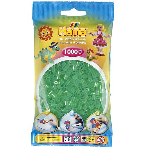 Midi Perlen 5mm in Beutel, 1000 Perlen transparent-grün
