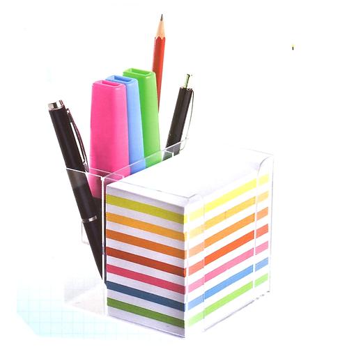 Notizbox m.Stiftehalter 9.5x9.5, ohne Stifte