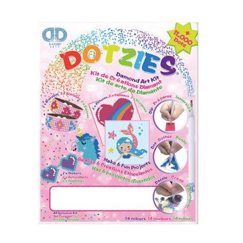 DIAMOND DOTZ DOTZIES Diamond Art Kit,  pink