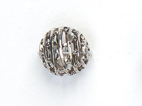 Metallperle 15mm altsilber Lochgrösse 1.5mm