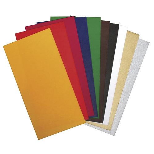 Verzierwachs 10 Farben sortiert, 20x10 cm, gemischt