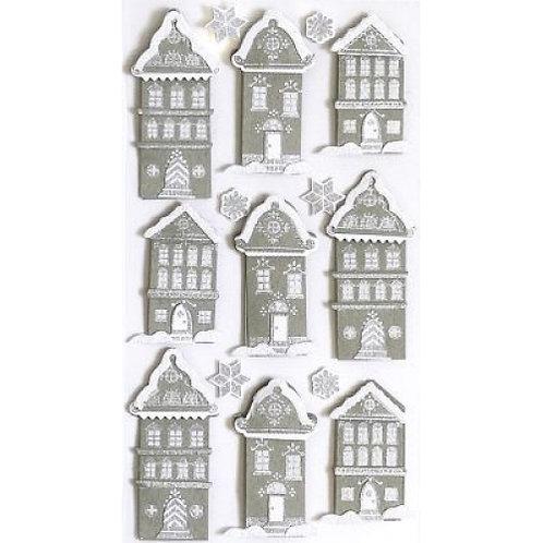Artwork Sticker Häuserzeile 155x65x5mm