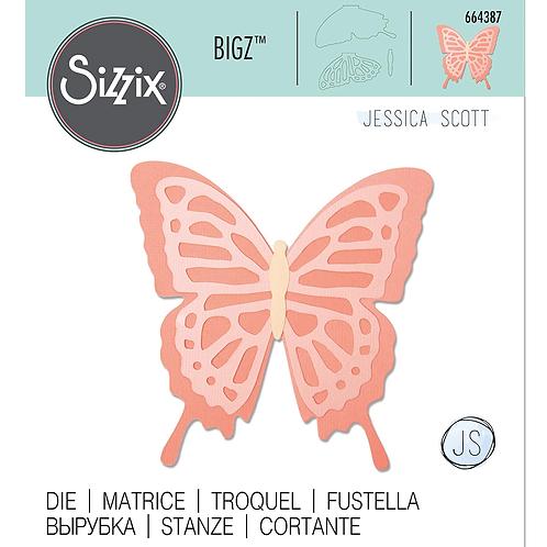Sizzix Bigz Schmetterling geschichtet