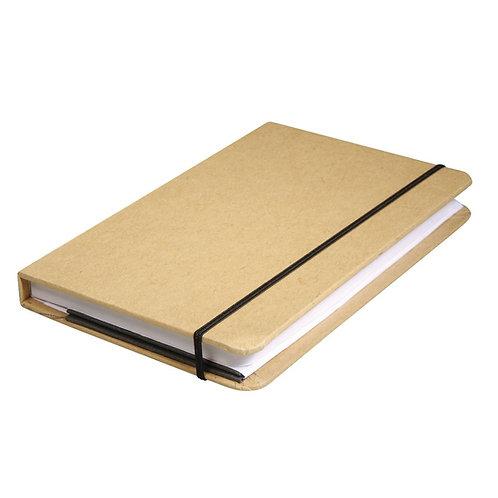 Kraftpapier-Notizbuch FSC Mix Credit 9x14x1,5cm, 100 Blatt, 80 g/m²